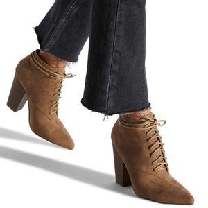Shoedazzle Daisy Laceup Bootie